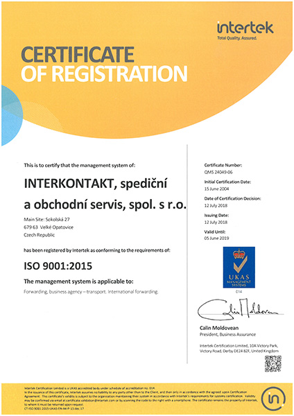 certificate ISO